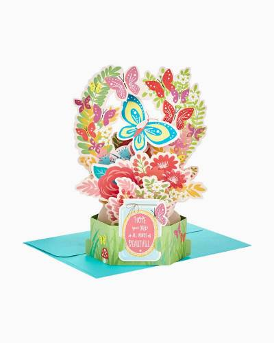 Wonderfolds Butterfly Bouquet Pop Up Just Because Card