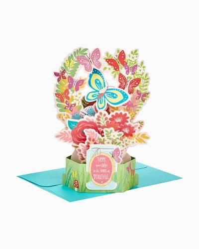 Wonderfolds Butterfly Bouquet Pop Up Just Because Card