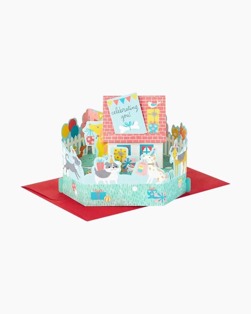 Hallmark Wonderfolds Dogs Celebrating You Pop Up Birthday Card