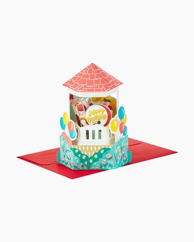Wonderfolds Old-Time Town Square Celebration Pop Up Birthday Card