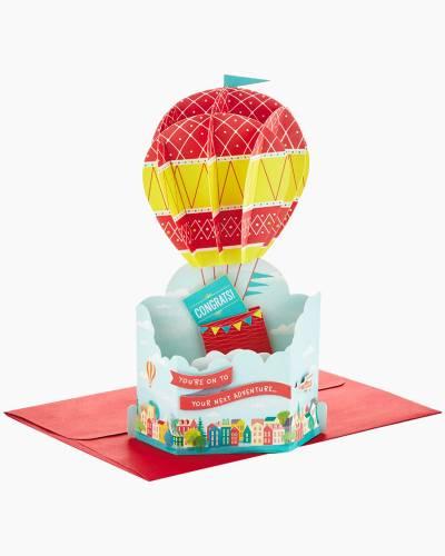 Wonderfolds Hot Air Balloon Pop Up Congratulations Card
