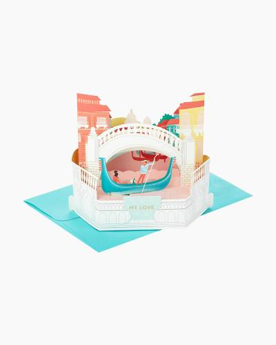 Wonderfolds Romantic Gondola Pop Up Love Card