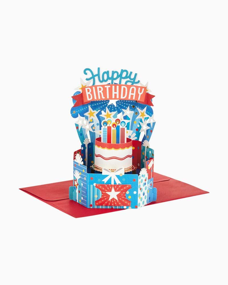 Hallmark Wonderfolds Colorful Birthday Celebration Pop Up