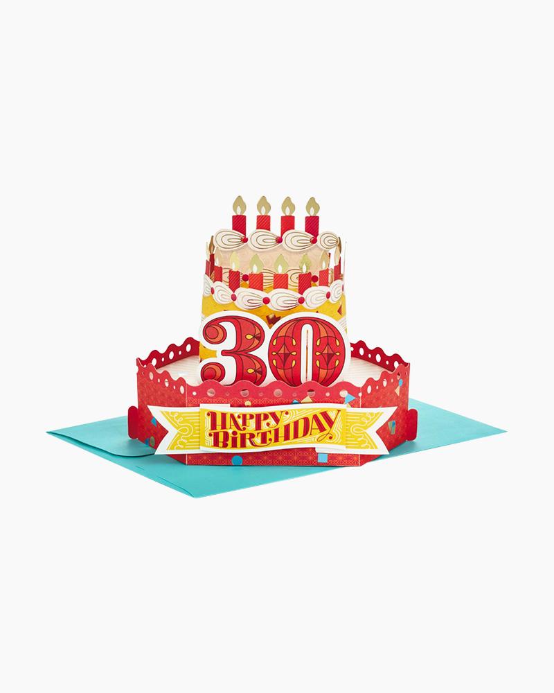 Hallmark Wonderfolds Celebrate With Cake Pop Up 30th Birthday Card