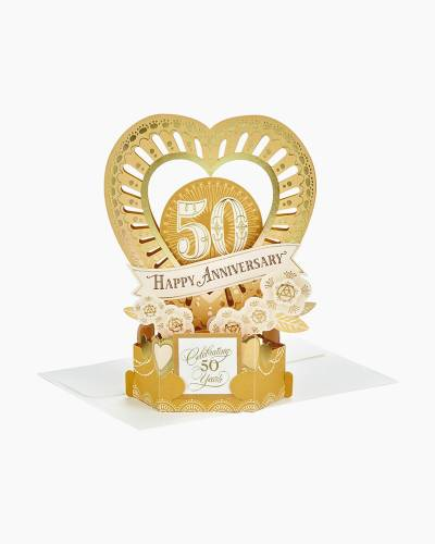 Wonderfolds Celebrate the Years Pop Up 50th Anniversary Card