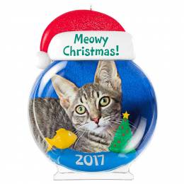 Hallmark Meowy Christmas! Cat Picture Frame Ornament