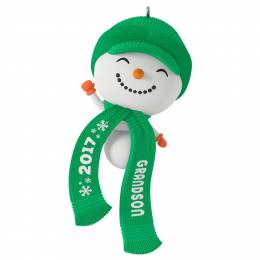 Hallmark Cute Snowman Grandson Ornament
