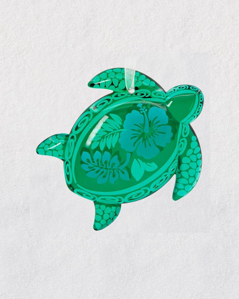 hallmark honu glass green sea turtle ornament the paper store