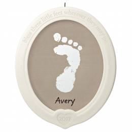 Hallmark Little Feet, Big Blessing Baby's Footprint Porcelain Ornament Kit