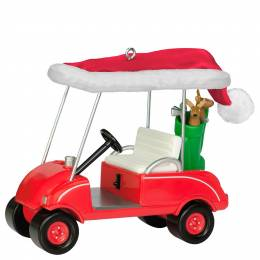 Hallmark Ho-Ho-Hole in One Golf Cart Ornament