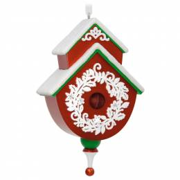 Hallmark Red and Green Beautiful Birdhouse Ornament (2017)