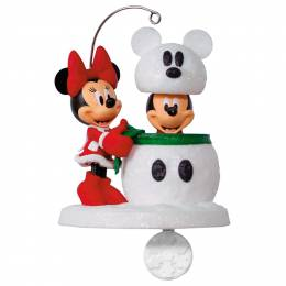 Hallmark Disney Mickey and Minnie Snowmouse Surprise Ornament