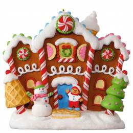Hallmark Gingerbread Merriest House in Town Musical Ornament With Light