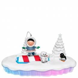Hallmark The World of Frosty Friends Let the Good Times Roll Tabletop Decoration