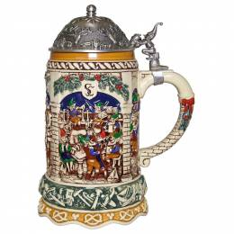 Hallmark Elf Festivities Ceramic Christmas Beer Stein