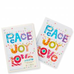 Hallmark UNICEF Peace Joy Love Christmas Cards, Box of 12