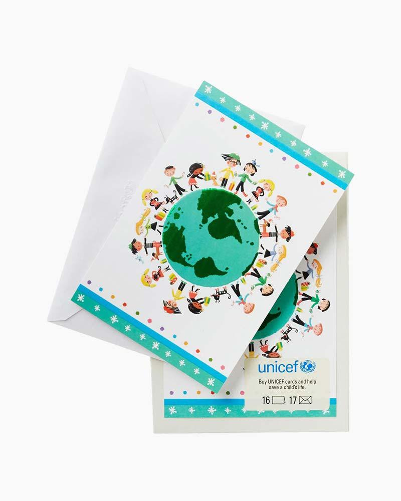 Hallmark Unicef Christmas Boxed Cards Peace Joy Love Lettering