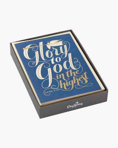 Glory to God Religious Christmas Cards (Box of 16)