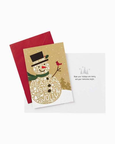Season to Be Jolly Snowman Christmas Cards, Box of 16
