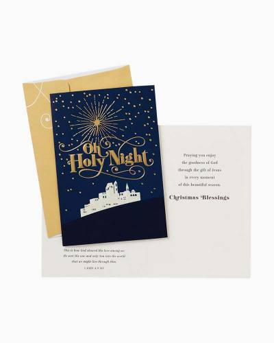 Oh Holy Night Religious Christmas Cards, Box of 16