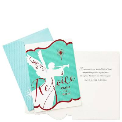 Rejoice and Goodwill Religious Christmas Cards, Box of 16