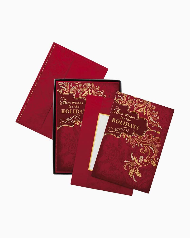 Hallmark Best Wishes Christmas Cards, Box of 16 | The Paper Store