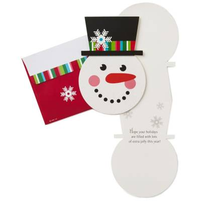 Smiling Snowman Christmas Cards, Box of 16