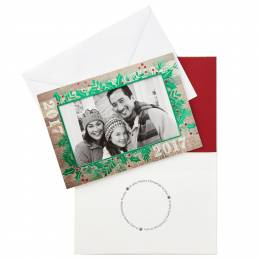 Hallmark 2017 Holly Picture Frame Christmas Cards, Box of 12