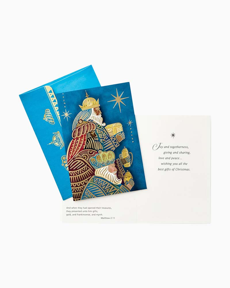 hallmark wise men with gifts religious christmas cards box of 16 the paper store