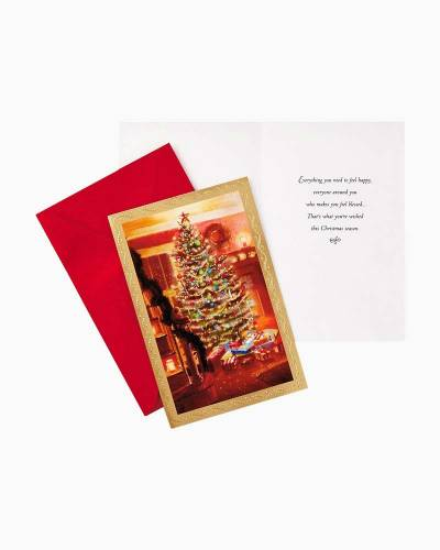 Christmas Tree With Presents Value Christmas Cards, Box of 40