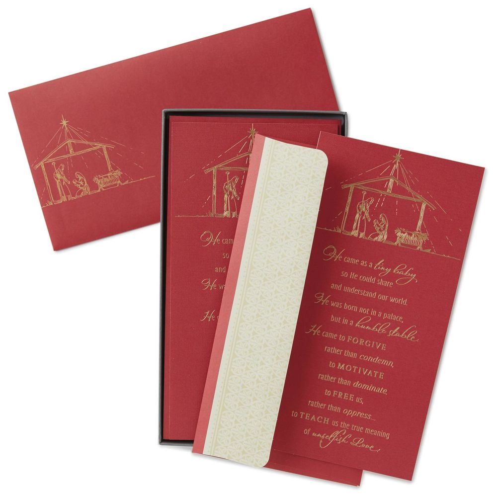 Hallmark God Sent His Only Son Religious Christmas Cards, Box of 16 ...