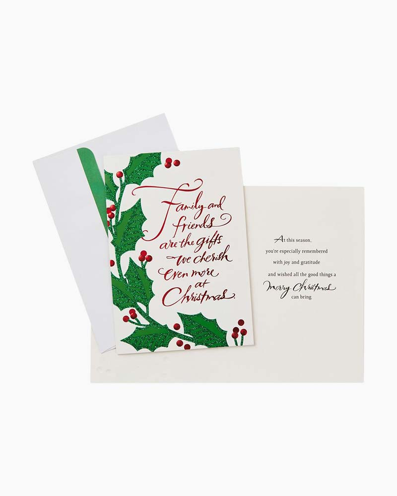 Hallmark Family And Friends Holly And Ivy Christmas Cards Box Of 16
