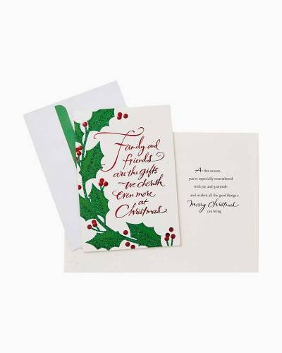 Family and Friends Holly and Ivy Christmas Cards, Box of 16