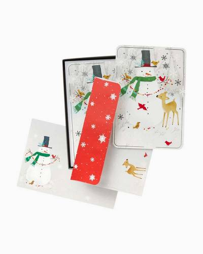 Snowman and Deer Christmas Cards, Box of 16