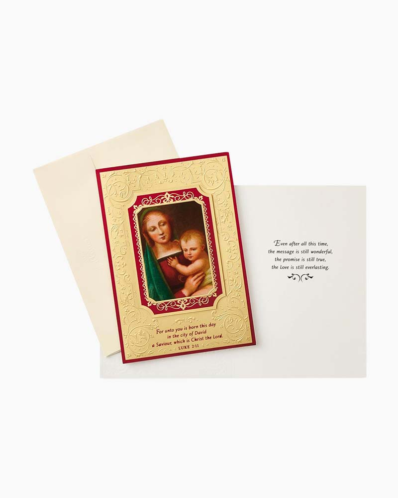 Hallmark Madonna and Child Religious Christmas Cards, Box of 12 ...