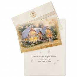 Hallmark Thomas Kinkade Christmas at Winsor Manor Christmas Cards, Box of 16