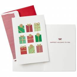 Hallmark Wrapped Presents Christmas Cards, Box of 8