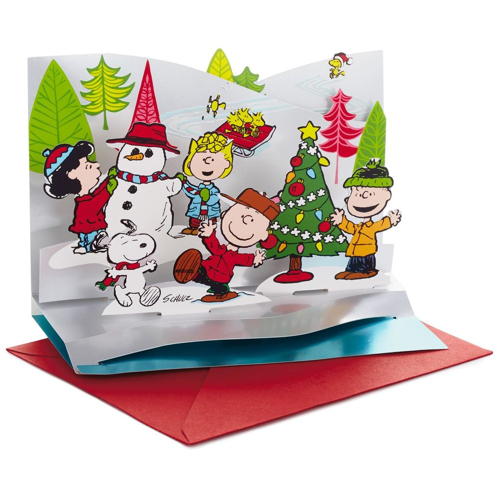 Hallmark Peanuts Gang Pop Up Christmas Cards, Box of 5 | The Paper Store