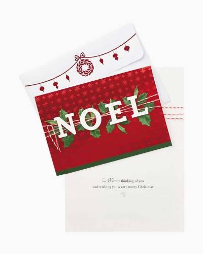 Shiny Noel Christmas Cards, Box of 12