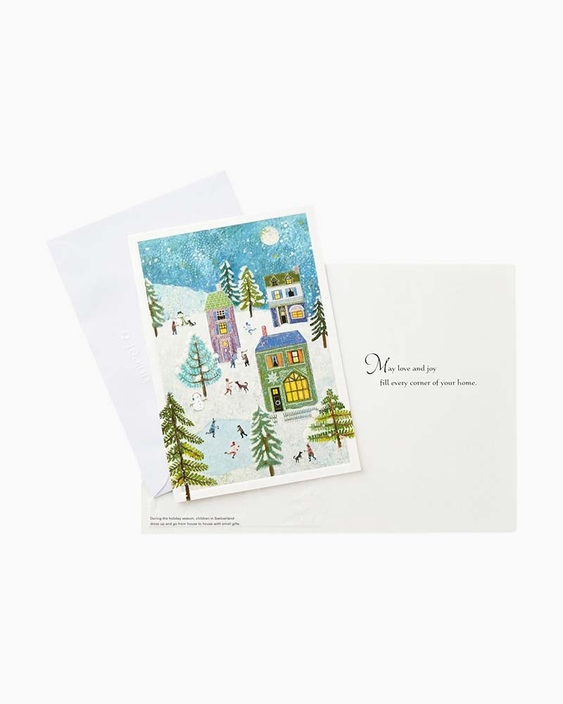hallmark unicef holiday scene christmas cards box of 20 the paper store - Unicef Holiday Cards