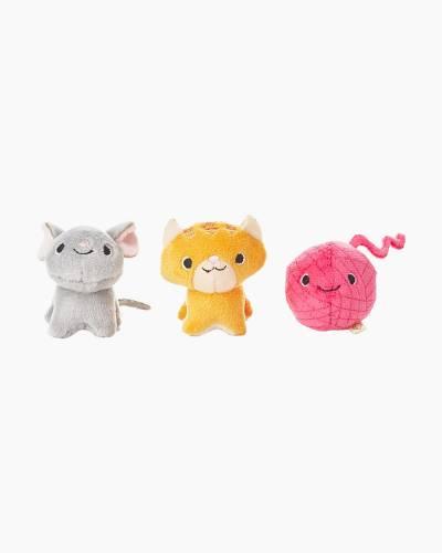 Happy Go Luckys Cat's Meow Mini Stuffed Animals (Set of 3)