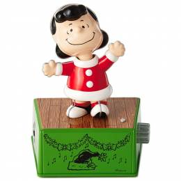 Hallmark Peanuts Lucy Christmas Dance Party Figurine With Music and Motion