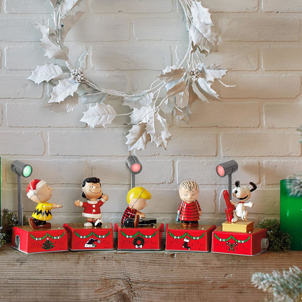 hallmark peanuts christmas dance party special edition collectors set 8 pieces - Peanuts Christmas Dance