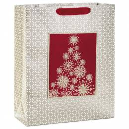 Hallmark Snowflake Tree X-Large Christmas Gift Bag, 15.5