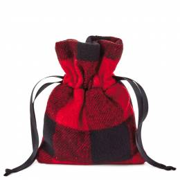 Hallmark Buffalo Plaid Small Fabric Christmas Gift Bag, 6