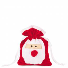 Hallmark Santa Claus Small Fabric Christmas Gift Bag, 6