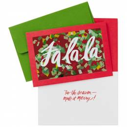 Hallmark Glitter Fa La La Christmas Cards, Box of 8