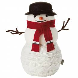 Hallmark Large Cable-Knit Sweater Snowman Decoration, 15.5