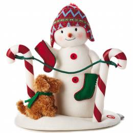 Hallmark Stockings Hung With Care Snowman Musical Stuffed Animal With Light and Motion