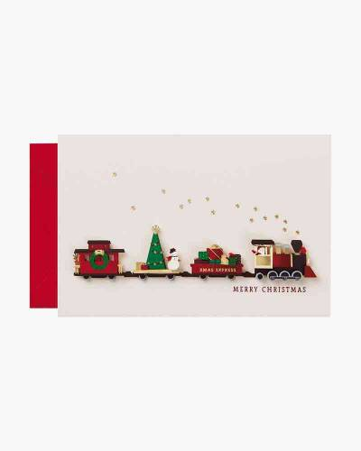 Paper Craft Train Christmas Card